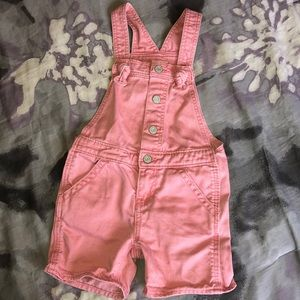 BabyGap pink overall shorts